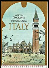 ⫸ 1970-6 June Traveler's Map of ITALY - National Geographic Map Travel Poster