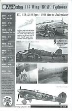 Aviaeology Decals 1/32 HAWKER TYPHOON (RCAF) 143 WING 1944 to Bodenplatte Part 2