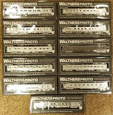 Walthers Proto HO Scale San Francisco Chief Deluxe Passenger Train Set Lighted