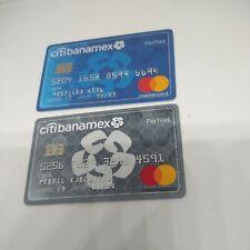 MEXICO RARE MASTERCARD  EXPIRED CARD - BANAMEX BANK PROFILES BLUE-GRAY 2X