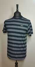 Lee Cooper Mens Blue Grey Crew Neck Striped Short Sleeve T Shirt Size M Casual