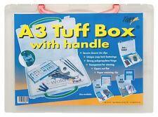 6 X A3 de profundidad claro TUFF Almacenamiento Caja Archivo Organizador Multi-propósito + manejar