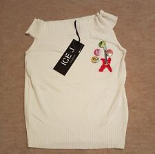 "BNWT ICEBERG ICE-J ""Guitar"" Top. Off The Shoulder. White. Size M (10). RRP £70."