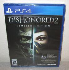 DISHONORED 2 Limited Edition SEALED NEW PlayStation 4 Arkane Studios Bethesda