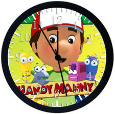 Handy Manny Black Frame Wall Clock Nice For Decor or Gifts E133