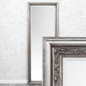 Wandspiegel ARGENTO 180x70cm Silber-Antik Spiegel Barock Holzrahmen Facette