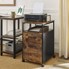 Rollcontainer, Aktenschrank mit 2 Schubladen, Büroschrank mit Rädern OFC71X