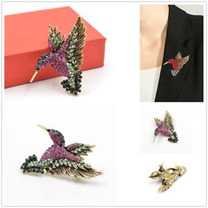 Betsey Johnson Crystal Rhinestone Brooch Hummingbird Charm Animal Brooch Pin New