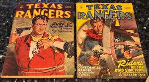 TEXAS RANGERS 36:3, 1949 F/VF Man for Breakfast, & 31:2, 1948 Jim Hatfield