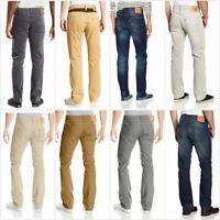 Levis 513 Slim Straight Fit Cotton Denim Jeans Green Black Blue Dark Light