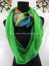 US SELLER geomatric colorful double loop infinity scarf winter fall circle loop