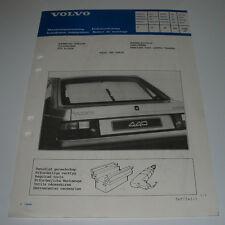 Einbauanleitung Volvo 440 Sonnenjalousie Heckrollo Sun Blinds Stand Juni 1988!