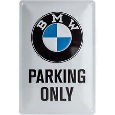 BMW PARCHEGGIO SOLO in metallo segno 30 CM x 20 cm (NA)