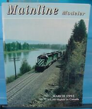 HO,S,N,O SCALE MAINLINE MODELER MAGAZINE MARCH 1993 TABLE OF CONTENTS PICTURED
