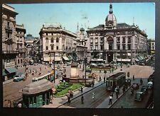 1959  Milano  Piazza Cordusio  animata  con  20 lire  segnatasse
