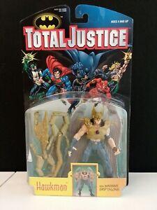 DC TOTAL JUSTICE HAWKMAN w MASSIVE GRIP TALONS NEW 1996