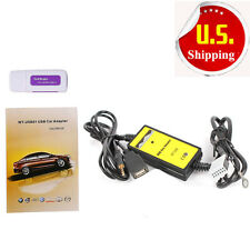 2016 Car USB MP3 Interface Adapter AUX In Input For 12Pin VW Skoda Seat Quadlock
