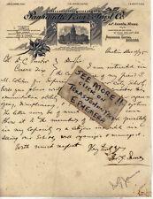 1895 John G James AUSTIN TEXAS Panhandle Loan Trust Henrietta NATIONAL BANK