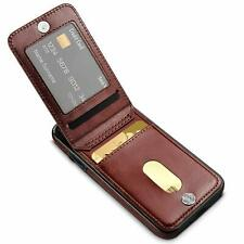 BROWN Magnetic Leather Wallet Casing | for iPhone X or iPhone Xs