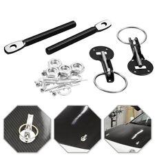 Universal Car Auto Flush Hood Mount Bonnet Latch Catch Pin Key Locking Black Kit