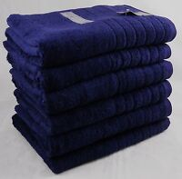 650gsm Towels Hand Bath Towel & Bath Sheet 100% Cotton Navy Blue White & Black