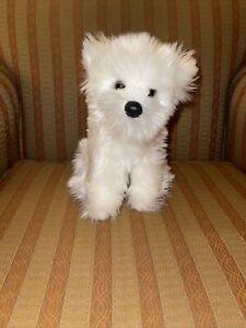 "VGUC-11"" Douglas Cuddle Toys Westie Plush Sitting Furry Stuffed Animal Puppy Dog"