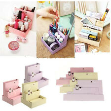 Nice Paper Board Storage Box Desk Decor Stationery Organizer Makeup Cosmetic