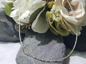 """Mother of Pearl """"Strongest Woman Alive"""" Morse Code Choker/Necklace 14kt G Filled"""