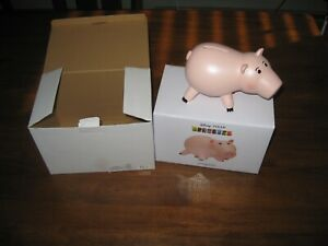 Rare Toy Story 3 Disney Store HAMM PIGGY BANK with Original Boxes Pixar