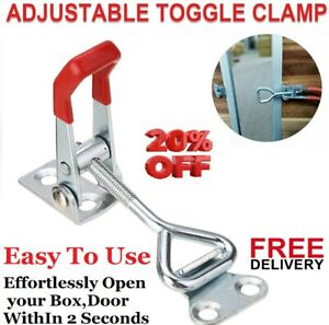 Powerful Handle Toggle Cabinet Box Lever Catch Latch Door Lock Clamp Hasp Toggle