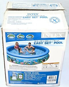 """new Intex 10' ft x 30"""" in Easy Set Up Inflatable Swimming Pool NO Filter Pump"""