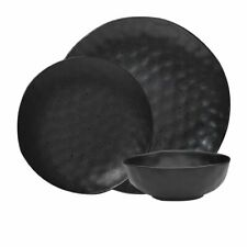 NEW Ecology Speckle Dinner Set 12pc Ebony (RRP $130)