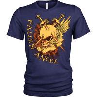 Fallen Angel Skull Swords Grunge Gothic Rock Punk Metal T-Shirt Unisex Mens