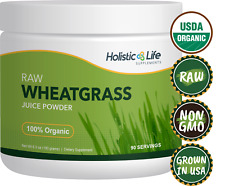 100% Organic Ancient Sea Bed Grown Wheat Grass Juice Powder, 90 Servings