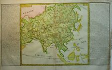 Antique map of Asia by Jean Baptiste Clouet 1787