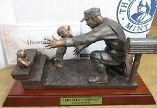 "Franklin Mint ""Home Coming� Men & Women of America Armed Force Bronze Sculpture"