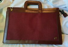 HAZEL USA Vintage Leather Canvas Document Portfolio Art, File Bag Briefcase
