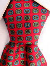 Men's Modus by Domenico Basile Red Silk Tie Made in Italy A25430