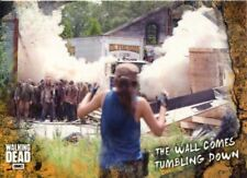 Walking Dead Road To Alexandria Rust Base Card #86 The Wall Comes Tumbling Down
