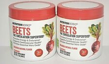 2 TUBS NUTRITIONWORKS BEETS THE CIRCULATION SUPERFOOD ENERGY POWDER EXP: 12/22