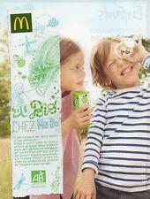 Publicité Advertising 2013  MAC DONALD le happy meal bio