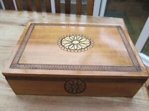 Vintage Wooden jewellery Box, Philipp Design Swiss, No Key