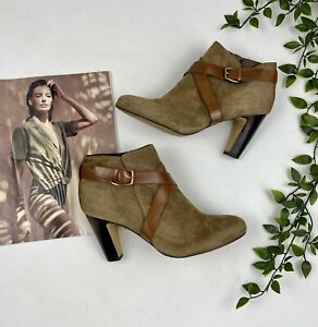 Naturalizer Brown Suede Leather  Zip Ankle Boots. Size 38 Boho