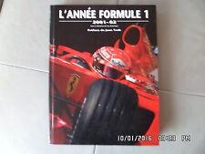 LIVRE L'ANNEE FORMULE 1 2001-02  J41