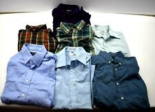 Lot of 7 Mixed Brands Men's M 15 16 1/2 Button Down Up Casual Dress Shirts Set