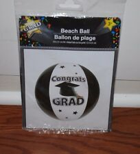 CONGRATS GRADUATION INFLATABLE BEACH BALL PARTY GIFT DECORATION CLASS OF 2017