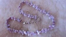 "925 Sterling Silver Creamy Lavender Ruffle BIWA Stick Pearl 18 & 1/2""  Necklace"