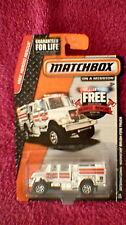 Matchbox (US Card) - 2015 - #69 International Workstar Brush Fire Truck - White