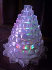 Farbspiel/Farbwechsel - Tischlampe in Form einer PYRAMIDE - 2 Stück im Set / NEU