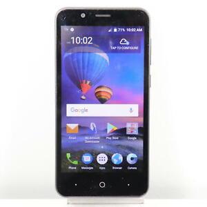 ZTE Z557BL (TracFone) 4G LTE Smartphone, Black - Fast Shipping